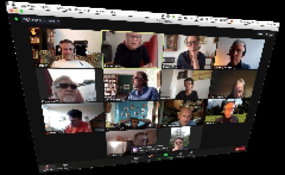 Menschen der Initiative Karl-August-Kiez im ONline-Meeting